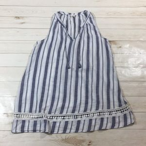 Lucky Brand Striped Boho Hippie Dress Size Large